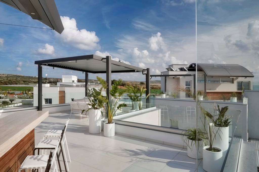 Villa with pool on the first line for rent in Ayia Napa resort, Cyprus