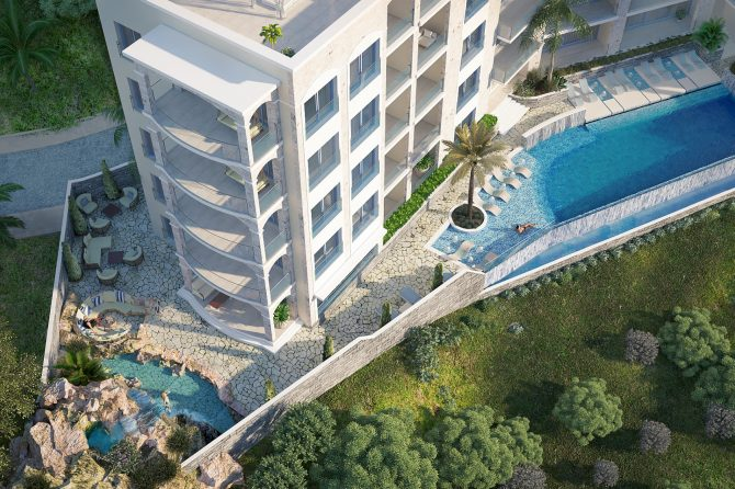 New apartments for sale in Budva Riviera: new residential complex in Becici