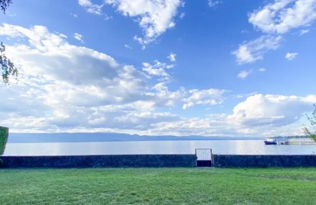 House on the shores of Lake Geneva in Thonon-les-Bains, France