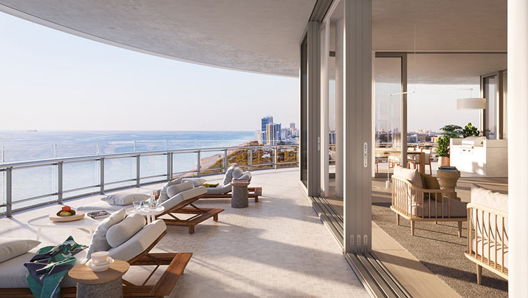 Penthouse of tennis player Novak Djokovic in Miami Beach