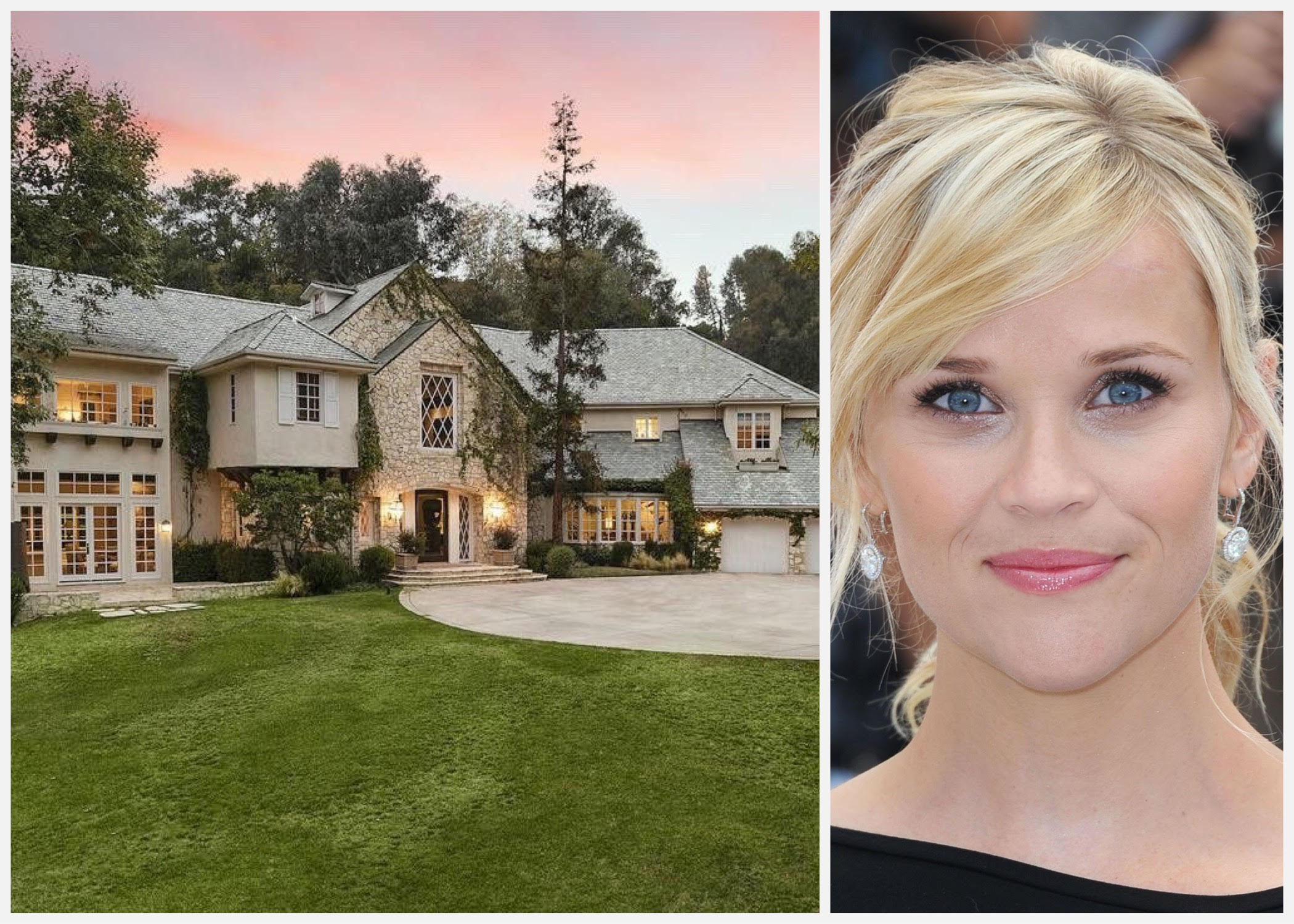 Beautiful mansion of actress Reese Witherspoon in Los Angeles