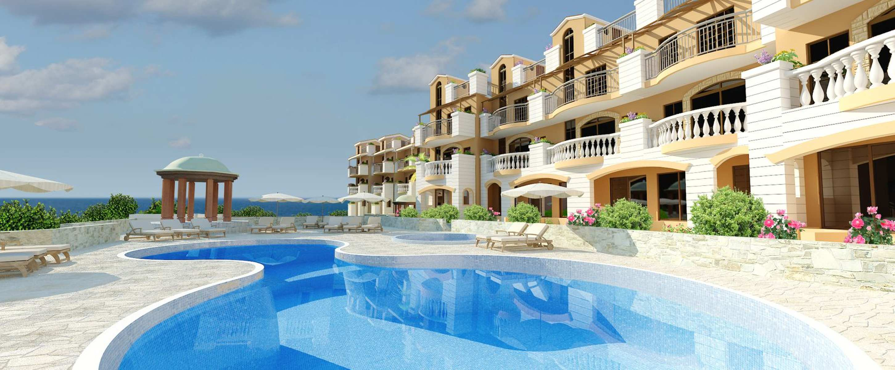 Townhouse in a prestigious residential complex in Paphos
