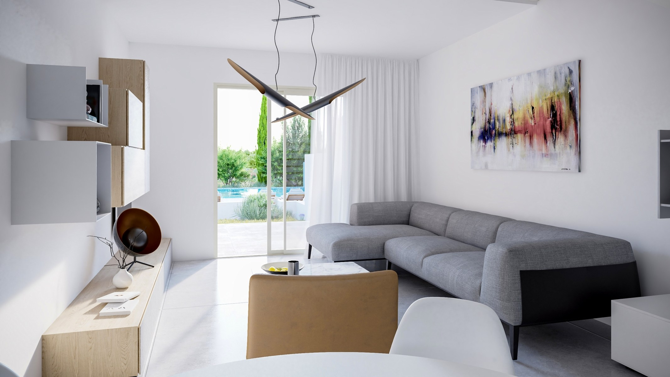 Townhouse in a new complex with a swimming pool, Paphos
