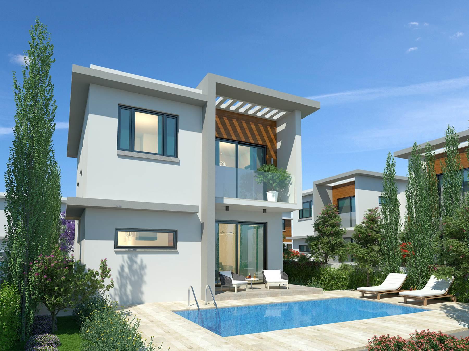 Modern villa with sea view in Protaras, Cyprus