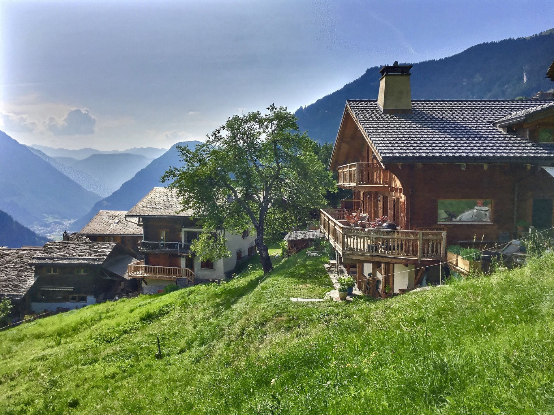 Family Chalet in Switzerland, with a panoramic view of the Alps