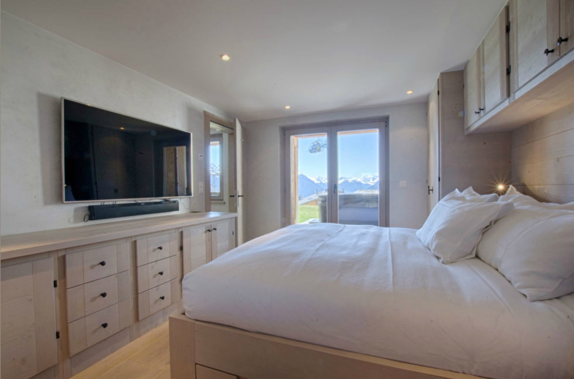 Apartment with a view of the Alps in Verbier, in the area of Medran street, Switzerland