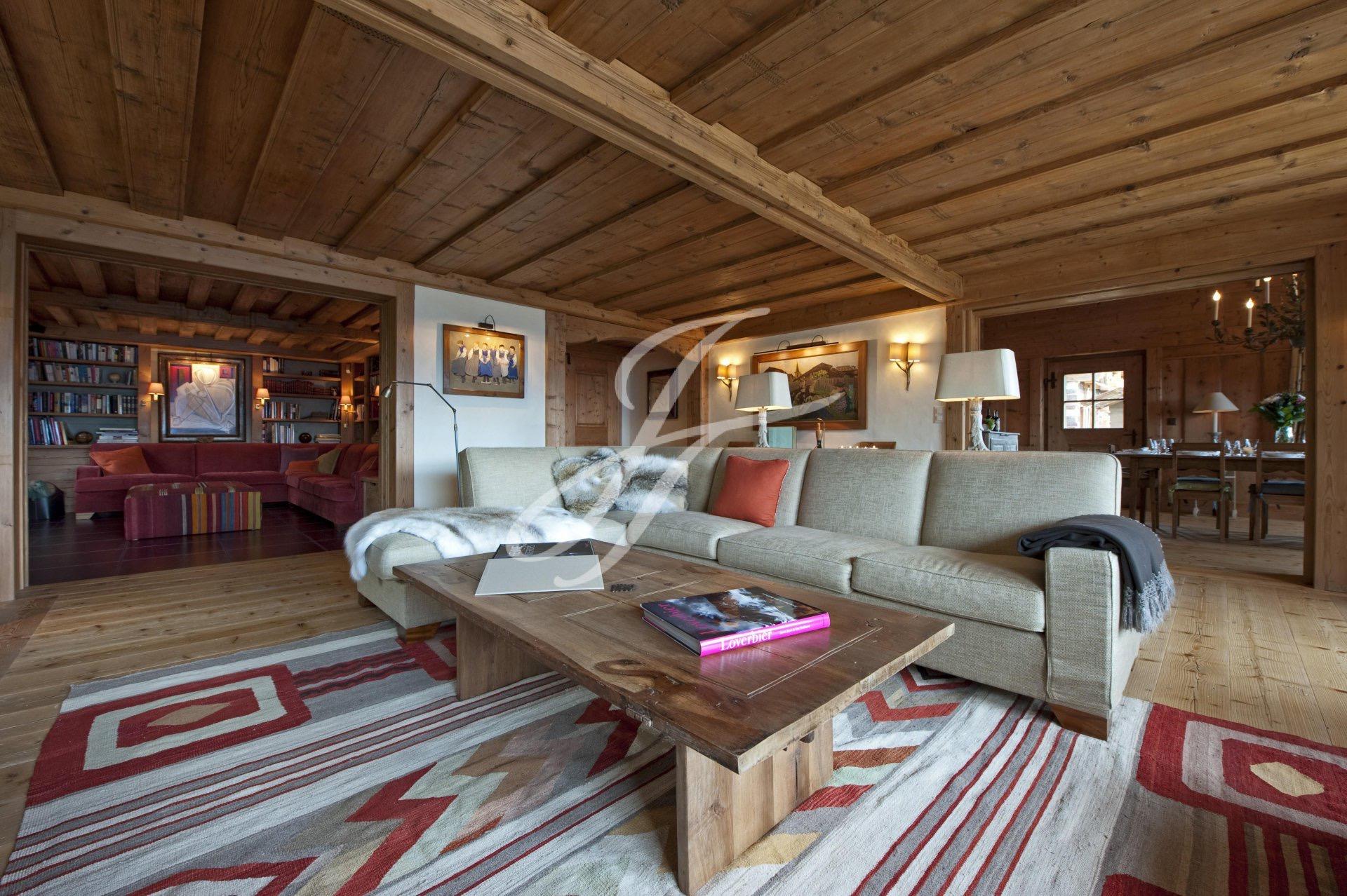 Luxurious chalet in Switzerland, ski resort Verbier, Alps