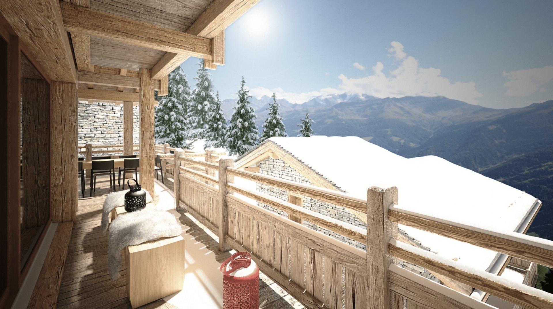 Шале в Швейцарии в регионе Шевийар д'Эн Бас, Вербье́, Альпы