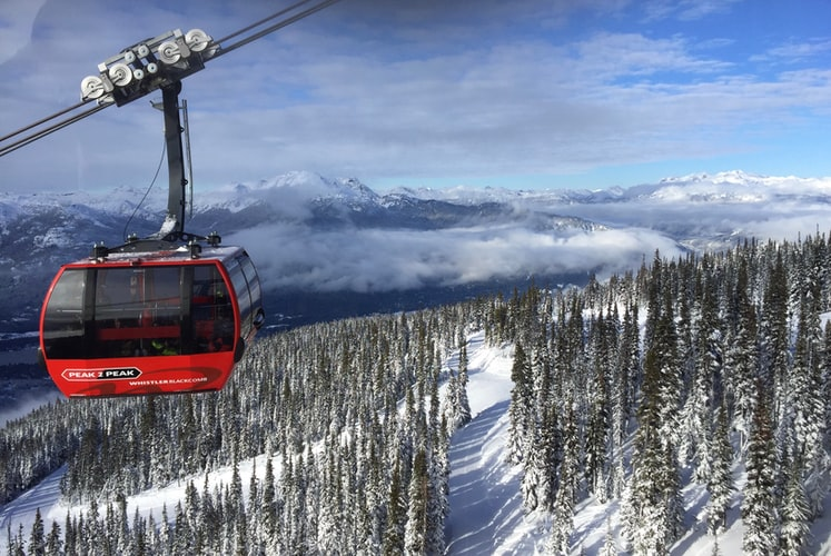 Stunning Canadian resort Whistler Blackcomb