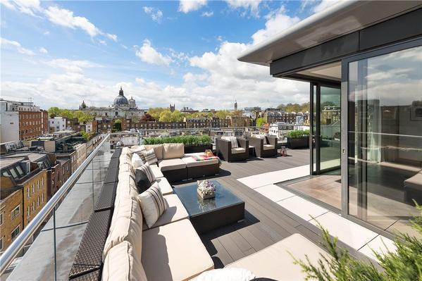 Изысканный пентхаус в Лондоне с обширной террасой и панорамным видом