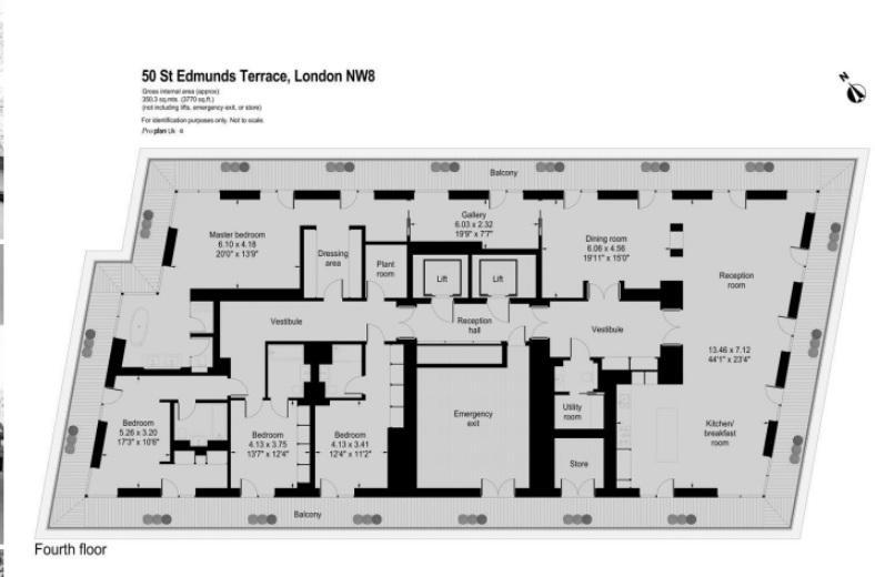 Пентхаус с четырьмя спальнями на продажу в Лондоне