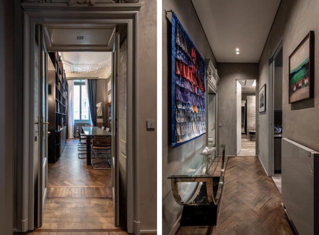 Apartment in Milan in a historic building of the early twentieth century