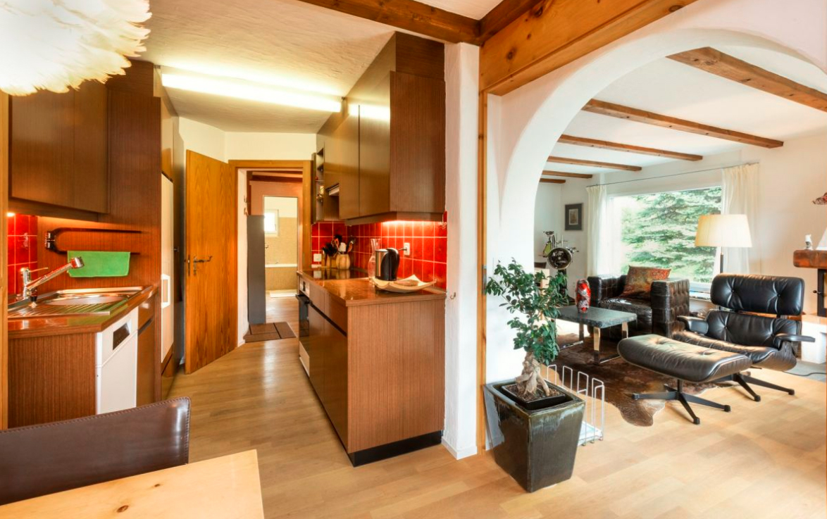Apartment with mountain views in Switzerland in Pontresina